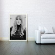 Brigitte Bardot, Decorative Arts, Prints & Posters,Wall Art Print, Poster Any Size - Black and White Poster